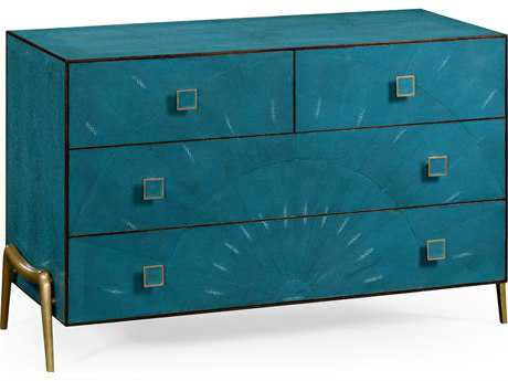 Jonathan Charles Luxe Teal Shagreen Chest