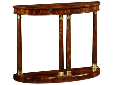 Jonathan Charles Knightsbridge collection Antique Mahogany Brown High Lustre Console Table