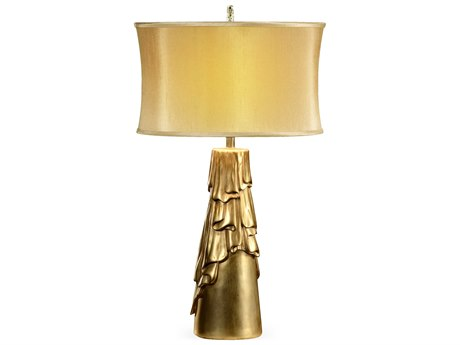 Jonathan Charles Versailles Light Antique Gold-Leaf With Carved Floral Detail Table Lamp