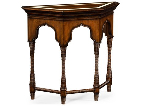 Jonathan Charles Moroccan collection Rustic Walnut Finish With Light Distressing Console Table