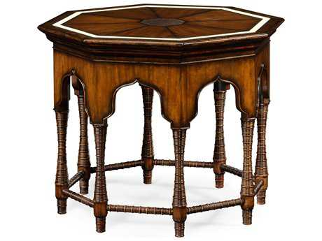 Jonathan Charles Moroccan collection Rustic Walnut Finish With Light Distressing Foyer Table