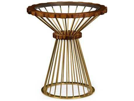 Jonathan Charles Camden Collection Faux Light Antique Brass End Table