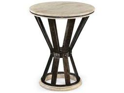 Jonathan Charles Artisan collection Brown Painted Antique Iron Finish End Table