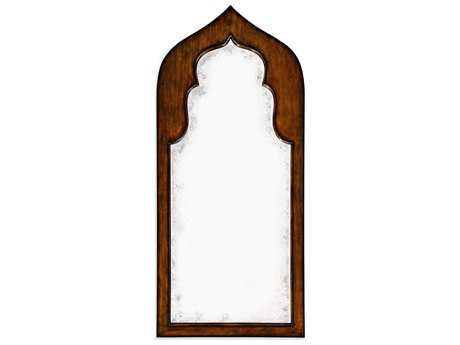 Jonathan Charles Moroccan collection Rustic Walnut Finish Floor Mirror