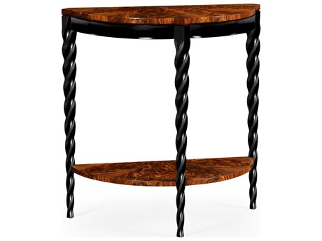 Jonathan Charles Twist collection Tropical Walnut Crotch Console Table