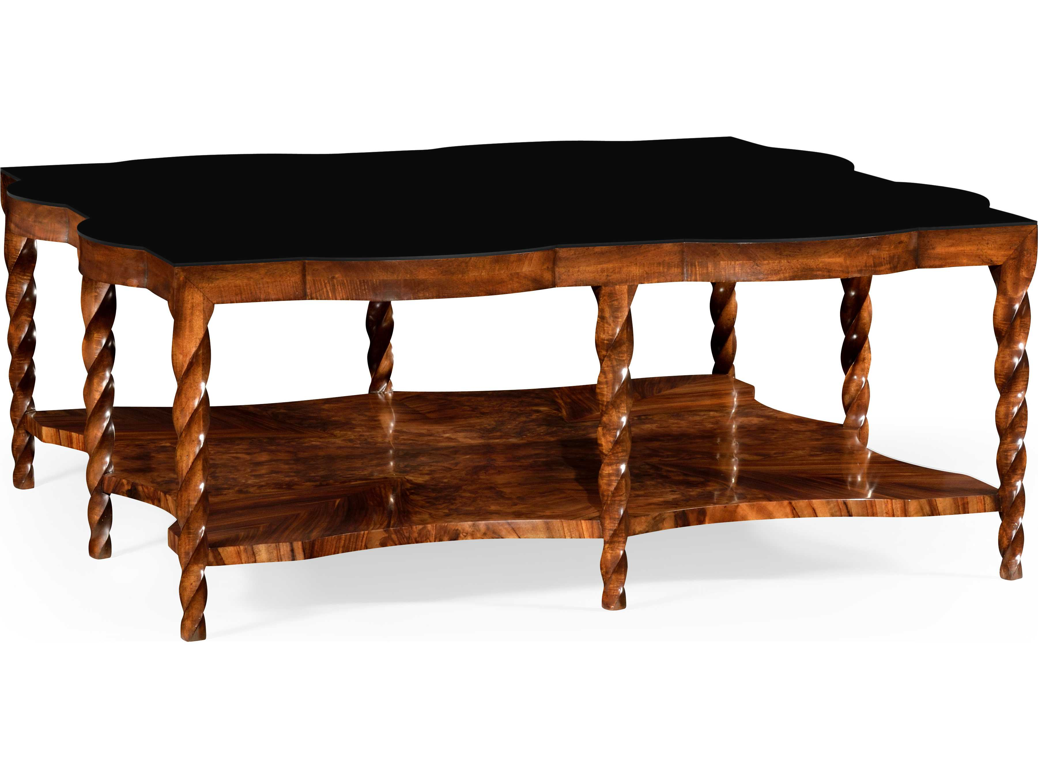 Jonathan Charles Twist Collection Tropical Walnut Crotch Coffee Table Jc495340wll