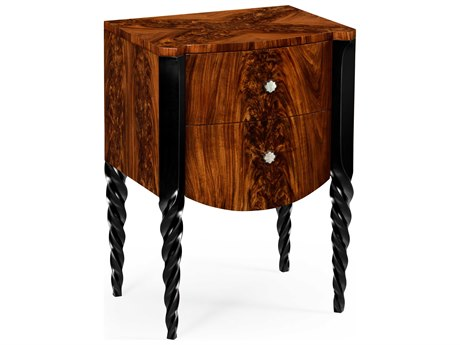Jonathan Charles Twist collection Tropical Walnut Crotch Nightstand