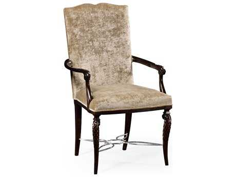 Jonathan Charles Icarus collection Zebrano Medium Accent Arm Chair