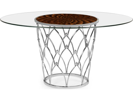 Jonathan Charles Icarus collection Stainless Steel Polished High Sheen Finish Foyer Table