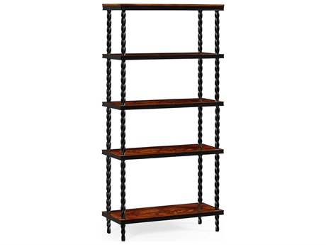 Jonathan Charles Twist collection Tropical Walnut Crotch Bookcase