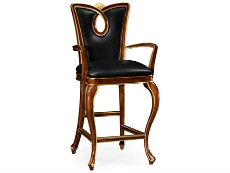Jonathan Charles Knightsbridge collection Antique Mahogany Brown - High Lustre On Wood Bar Stool