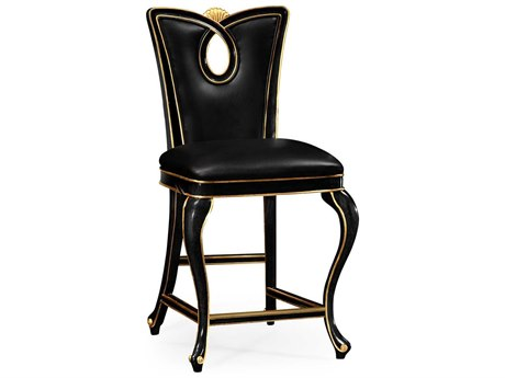 Jonathan Charles Knightsbridge collection Painted Formal Black Counter Stool