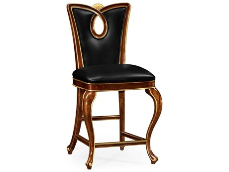 Jonathan Charles Knightsbridge collection Antique Mahogany Brown - High Lustre On Wood Counter Stool