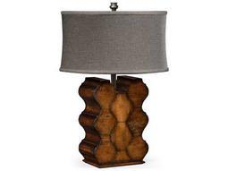 Jonathan Charles Artisan collection Rustic Walnut Finish Table Lamp