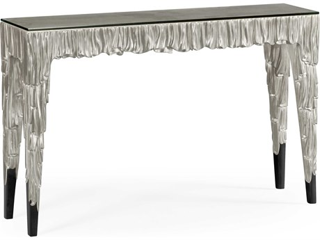 Jonathan Charles Versailles collection Antique Silver-Leaf Light On Wood Console Table