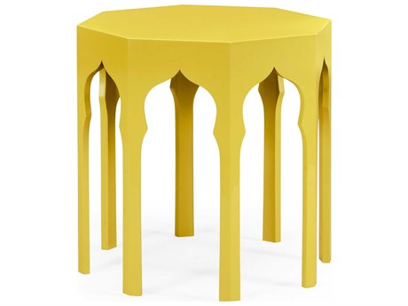 Jonathan Charles Moroccan collection Yellow Rain Coat End Table