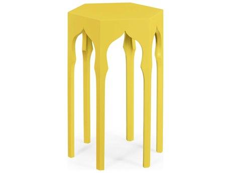 Jonathan Charles Moroccan collection Yellow Rain Coat End Table