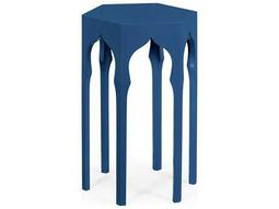 Jonathan Charles Moroccan collection Patriot Blue End Table