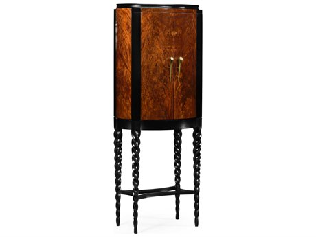 Jonathan Charles Twist collection Tropical Walnut Crotch Cabinet Bar