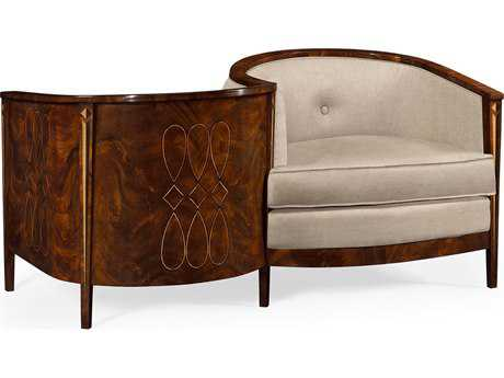 Jonathan Charles Knightsbridge collection Antique Mahogany Brown High Lustre Loveseat