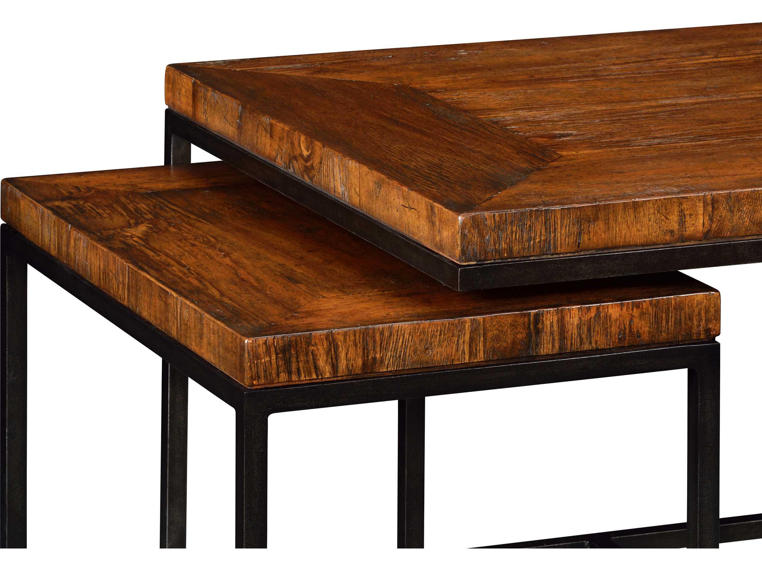 Jonathan Charles Artisan Collection Rustic Walnut Finish Coffee Table Jc495422rwl