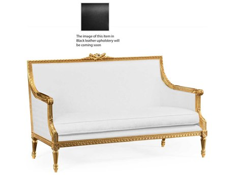 Jonathan Charles Versailles collection Light Antique Gold-Leaf With Carved Floral Detail Loveseat