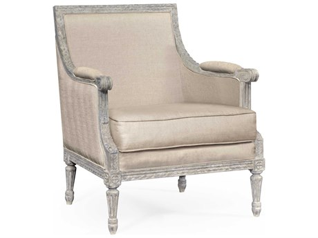 Jonathan Charles Curated collection Antique Greige Accent Arm Chair