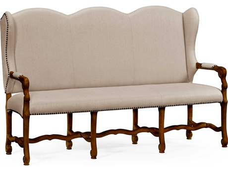 Jonathan Charles Artisan collection Rustic Walnut Finish Bench