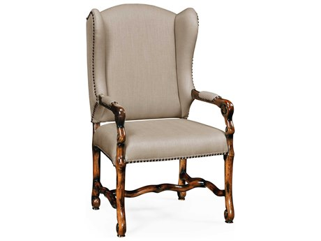 Jonathan Charles Artisan collection Rustic Walnut Finish Accent Arm Chair