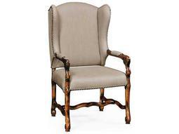 Jonathan Charles Artisan Rustic Walnut Dining Arm Chair