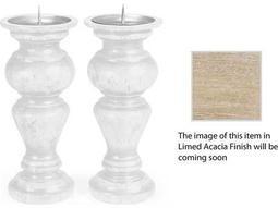 Jonathan Charles Artisan collection Limed Acacia Candle Holder