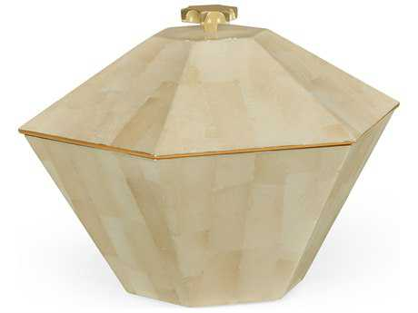 Jonathan Charles Indochine collection Cream Brushed Eggshell Jewelry Box