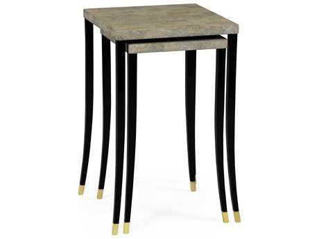 Jonathan Charles Indochine collection Black Brushed Eggshell Nesting Tables