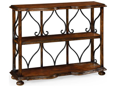 Jonathan Charles Artisan collection Rustic Walnut Finish Bookcase