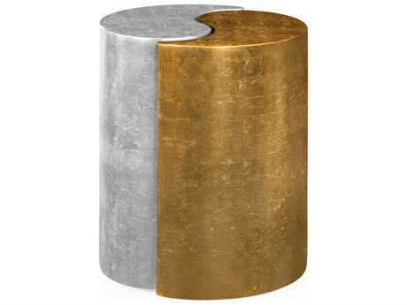Jonathan Charles Indochine collection Foil Gold Leaf End Table