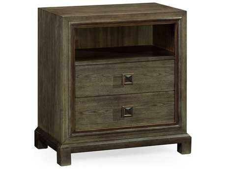 Jonathan Charles Curated Light Grey Chestnut Nightstand