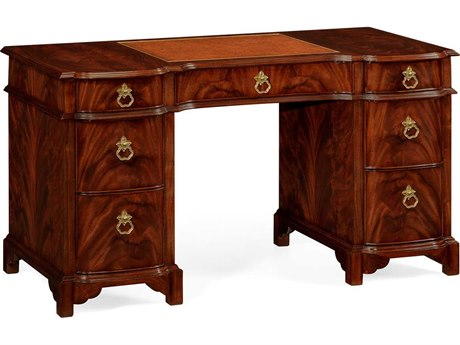 Jonathan Charles Buckingham Medium Antique Mahogany Federal Style Kneehole Desk