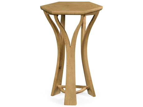 Jonathan Charles Architects House Light Washed Oak Architectural Octagonal Lamp Table