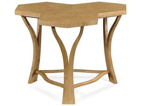 Jonathan Charles Architects House Light Washed Oak Archetectural Coffee Table with Triple Hexagonal Oysters