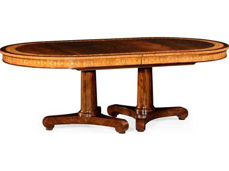 Jonathan Charles Chatsworth collection Medium Antique Mahogany Satin Casual Dining Table