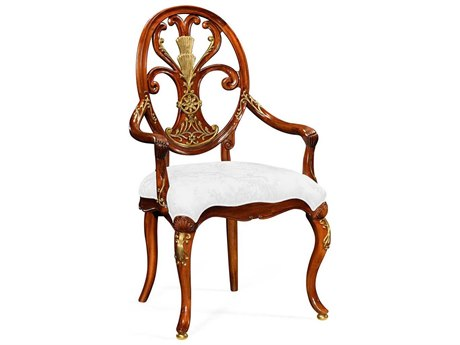 Jonathan Charles Duchess collection Light Burr Walnut Lustre Accent Arm Chair