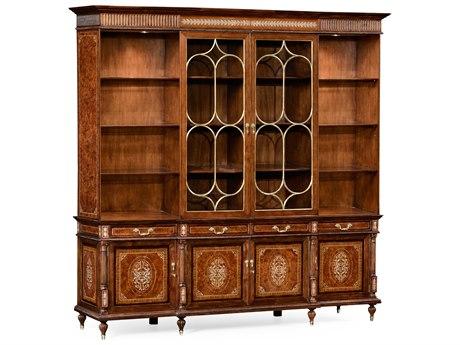 Jonathan Charles Duchess Light Burr Walnut Lustre 98.75 x 27.5 Bookcase