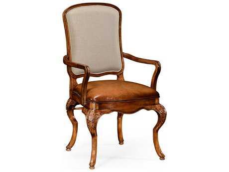 Jonathan Charles Duchess Light Burr Walnut Lustre Dining Chair