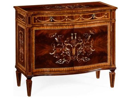 Jonathan Charles Regency collection Medium Antique Mahogany High Lustre Console
