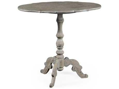 Jonathan Charles William Yeoward Greyed Oak 30 x 18.5 Oval Pedestal Table