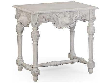 Jonathan Charles William Yeoward Country White 32.75 x 21.75 Rectangular Console Table