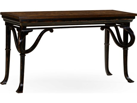 Jonathan Charles William Yeoward Dark Walnut Parquetry 62.5 x 22 Rectangular Console Table