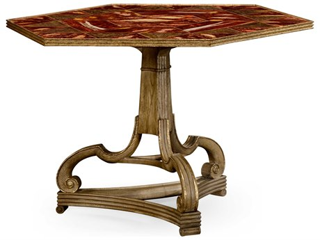 Jonathan Charles William Yeoward Washed Oak 52 x 45 Hexagon Pedestal Table