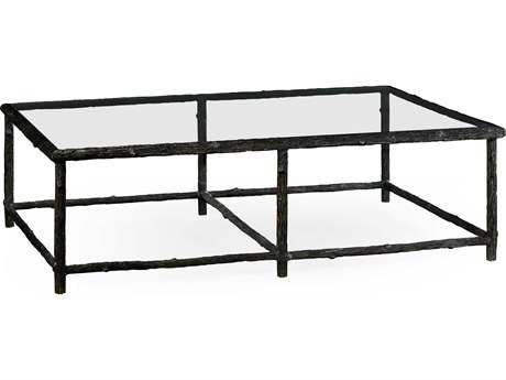 Jonathan Charles William Yeoward Antique Bronze Finish On Metal 60 x 40 Rectangular Coffee Table