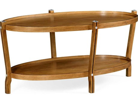 Jonathan Charles William Yeoward Collected - Urban Cool Sunwashed Walnut Rosie's Oval Coffee Table